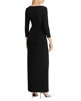Ralph Lauren - Two-Tone Belted Gown