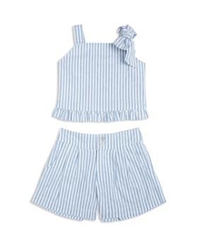 Habitual Kids - Girls' Luciana Tied-Shoulder Tank & Pleated Shorts Set - Little Kid
