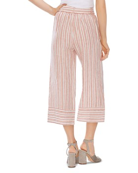 VINCE CAMUTO - Riviera Stripe Cropped Wide-Leg Pants - 100% Exclusive