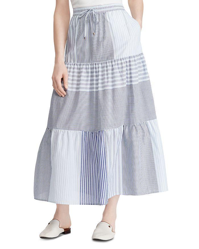 Ralph Lauren - Tiered Mixed-Stripe Skirt