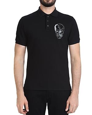 Just Cavalli T-shirts SKULL REGULAR FIT POLO SHIRT