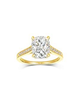 Crislu - Single Stone Ring in 18K Gold-Plated Sterling Silver, 18K Rose Gold-Plated Sterling Silver or Platinum-Plated Sterling Silver