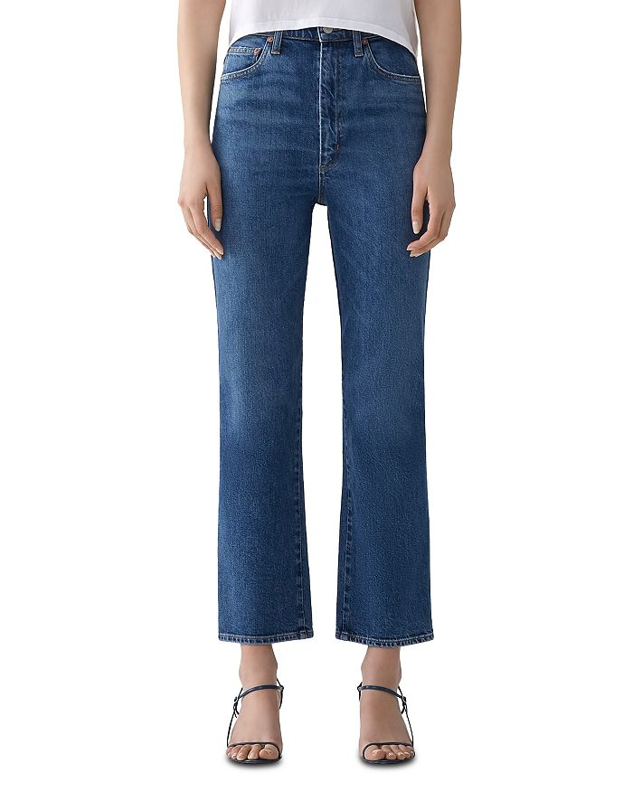 AGOLDE - Pinch-Waist Ankle Jeans in Subdued