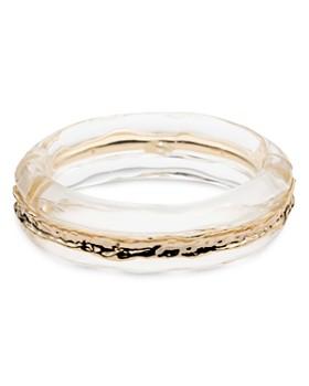 Alexis Bittar - Brass Inset Hinge Bangle Bracelet