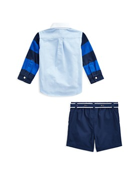 Ralph Lauren - Boys' Rugby Shirt, Belt & Cargo Shorts Set - Baby