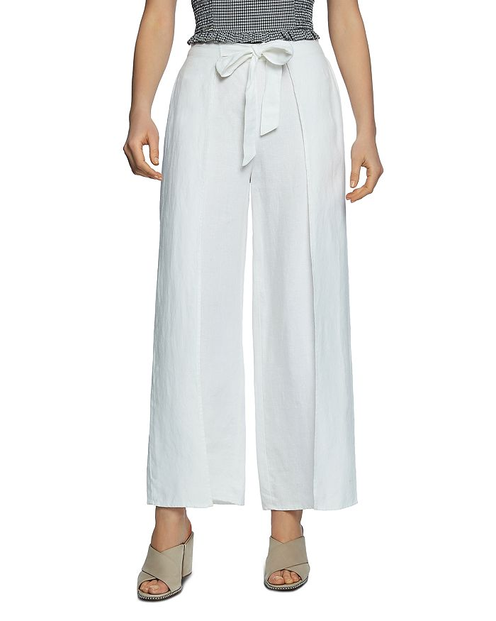 many choices of pick up exceptional range of styles and colors Tie-Waist Wide-Leg Linen Pants