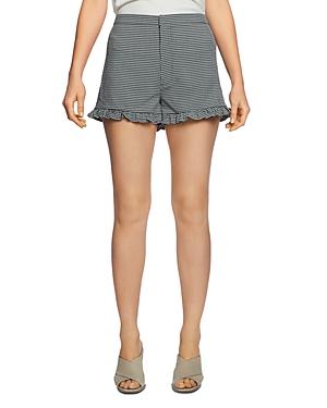 1.state Checked Ruffle-Hem Shorts