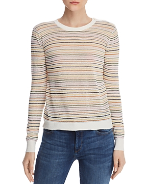 Joie Sweaters ADE STRIPED CREWNECK SWEATER