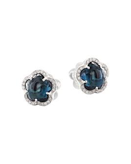 Pasquale Bruni - 18K White Gold Ton Joli - Je T'aime Blue Topaz & Diamond Stud Earrings
