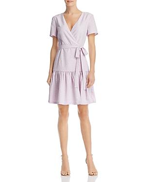 French Connection Dresses LEOPARD FAUX-WRAP DRESS