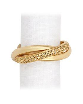L'Objet - Three Ring Crystal Napkin Jewels, Set of 4