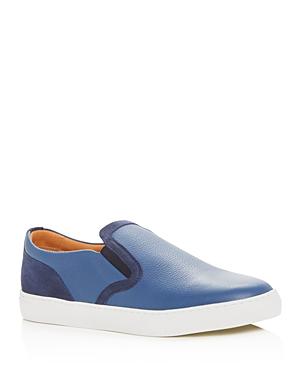 Harrys of London Men's Frisky Milled Leather Slip-On Sneakers