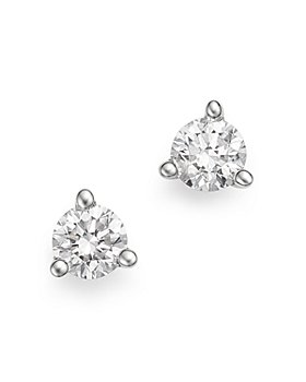 Bloomingdale's - Diamond Stud Earrings in 14K White Gold 3-Prong Martini Setting, 0.20 ct. t.w. - 100% Exclusive