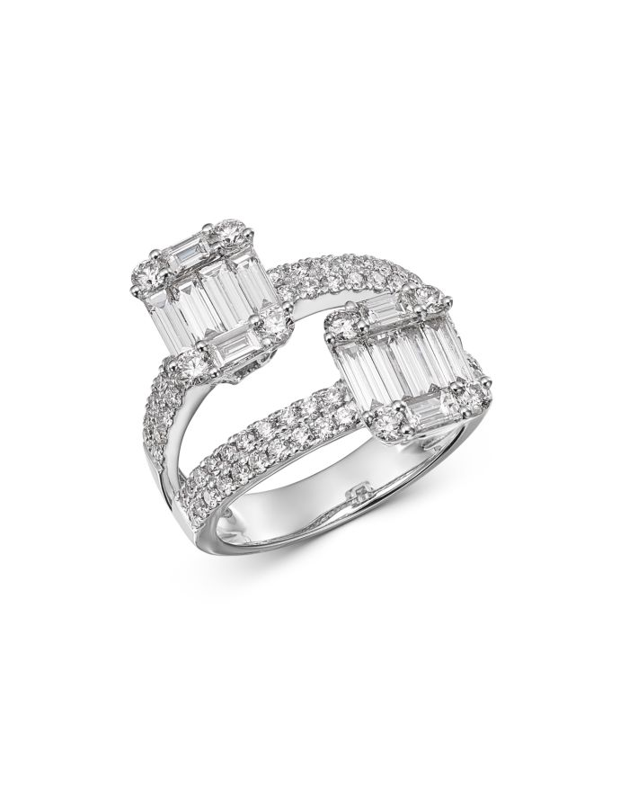 Bloomingdale's Diamond Mosaic Statement Ring in 14K White Gold, 2.0 ct. t.w. - 100% Exclusive    Bloomingdale's