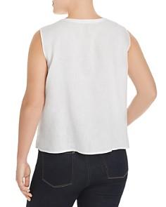 Eileen Fisher Plus - Organic Linen Button-Front Tank
