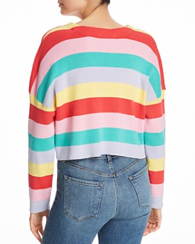 Honey Punch - Striped Cropped Sweater