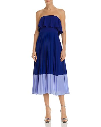 Aidan by Aidan Mattox - Strapless Color-Blocked Dress