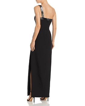 BCBGMAXAZRIA - Sequin-Embellished One-Shoulder Gown