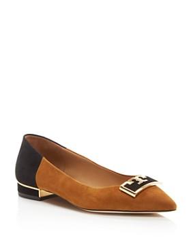 Tory Burch - Women's Gigi Pointed Toe Color-Block Flats