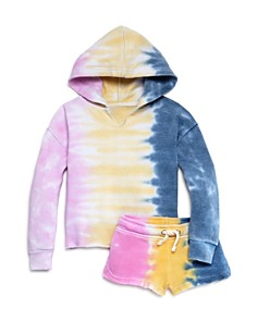Vintage Havana - Girls' Tie-Dye Hoodie and Shorts - Big Kid