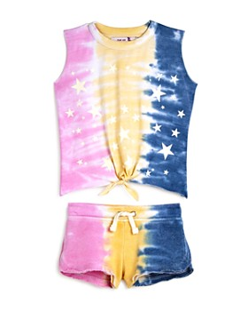Vintage Havana - Girls' Tie-Dye Tank and Shorts - Big Kid