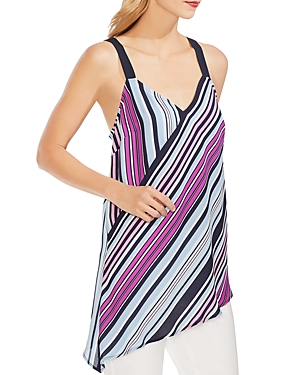 Vince Camuto Tops STRIPED ASYMMETRIC-HEM TANK