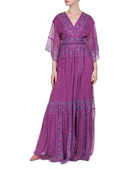 ba&sh - Maya Botanical Faux-Wrap Maxi Dress