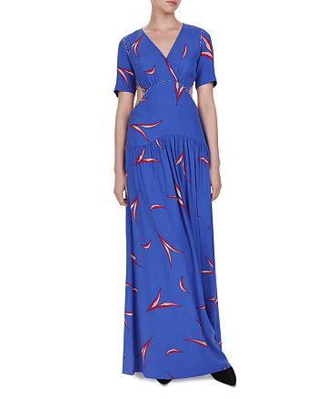 ba&sh - Tiana Cutout Leaf Print Maxi Dress
