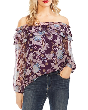Vince Camuto Tops POETIC BLOOMS OFF-THE-SHOULDER TOP