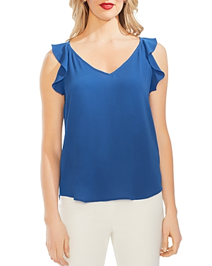 Vince Camuto Tops SLEEVELESS RUFFLED TOP