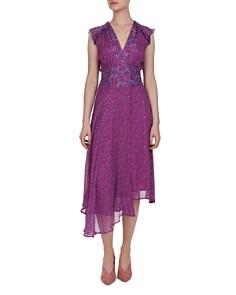 Ba&sh - Meryl Asymmetric Botanical Print Dress