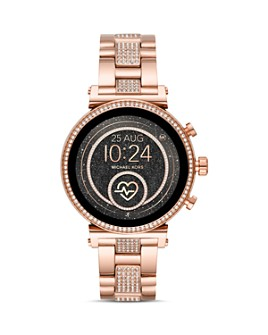 Michael Kors - Sofie Rose Gold-Tone Touchscreen Smartwatch, 41mm
