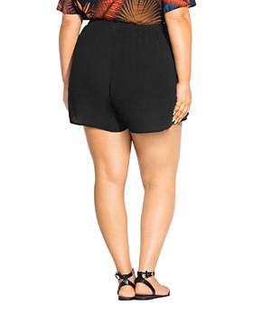 City Chic Plus - Flirty Tie Shorts