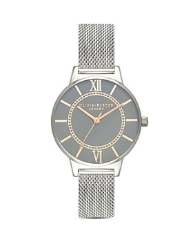 Olivia Burton - Stainless Steel Gray Dial Watch, 34mm