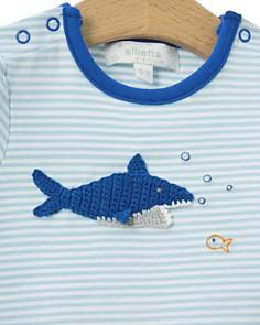Albetta - Boys' Crochet-Shark Short Coverall - Baby
