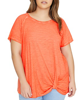 Sanctuary Curve - Sunny Days Twist-Front Tee