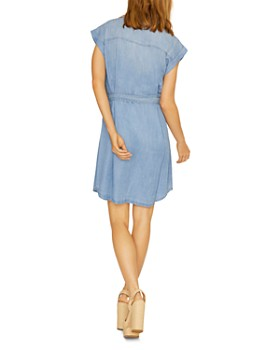 Sanctuary - Cap-Sleeve Denim Shirt Dress