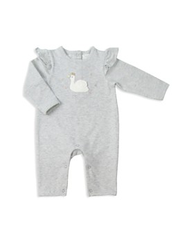 Albetta - Girls' Ruffled-Shoulder Crochet-Swan Coverall - Baby