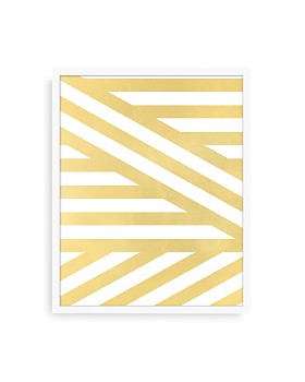 Bloomingdale's Artisan Collection - Gold Stripes II Wall Art