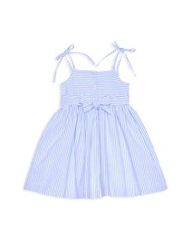 Pippa & Julie - Girls' Seersucker & Lace Fit-and-Flare Dress - Little Kid