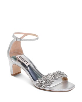 Badgley Mischka - Women's Alison Embellished Block Heel Sandals