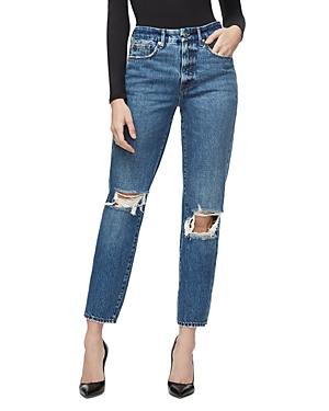 Good American Good Vintage Straight Jeans in Blue244-Women