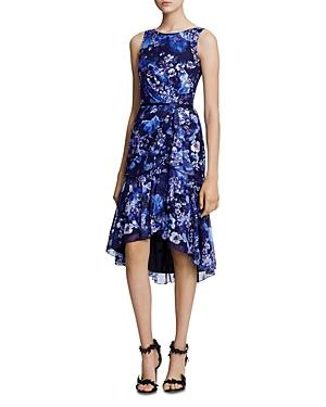 Marchesa Notte Dresses Sleeveless Floral High-Low Dress