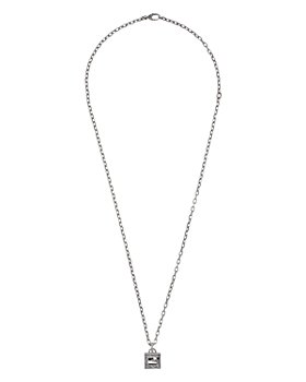 """Gucci - Sterling Silver G Cube Square G Pendant Necklace, 31.5"""""""