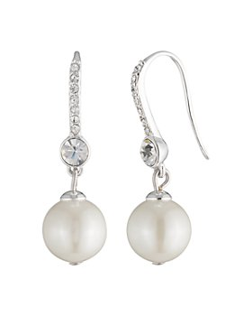 Ralph Lauren - Pavé & Simulated Pearl Drop Earrings
