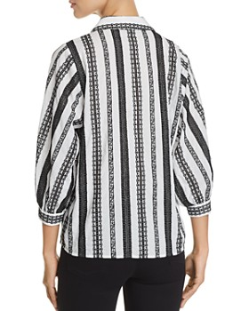KARL LAGERFELD Paris - Embroidered-Stripe Blouse