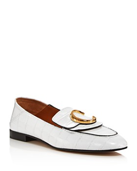 premium selection b627b e10cc Chloé - Women s C Flat Leather Loafers ...