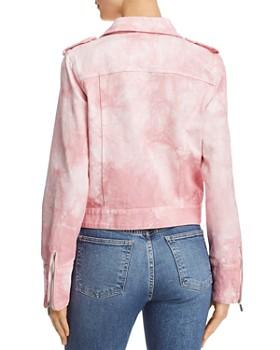Bagatelle - Tie-Dyed Denim Moto Jacket