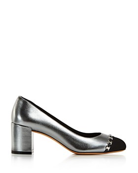 47e008dd4f7 ... Salvatore Ferragamo - Women s Avella Metallic Leather Block-Heel Pumps