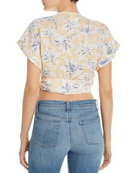 Lost and Wander - Luci Floral-Print Cropped Wrap Top